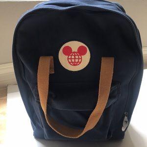 Walt Disney World Mickey blue canvas backpack